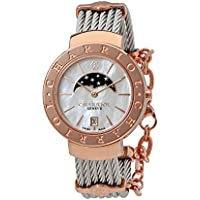 Charriol St-Tropez Moonphase Mother of Pearl Women's Watch