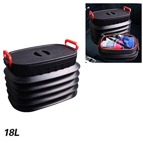 Trendy 4L 18L 25L 37L 60L car folding collapsible bucket fishing bucket of container storage box (18L)
