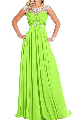 Damen Pfirsisch Chiffon Gruen Festlichkleider Lemon Langes Braut Abendkleider Ballkleider Formalkleider Partykleider mia La wIq1EtE