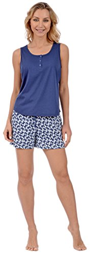 Butterfly Short Set (Pink Lady Women's 2 Piece Pajamas Tank Top and Shorts Loungewear Set (Blue Butterflies Medium))