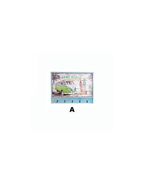 Hogar y Mas Perchero de Pared Original con Diseño de Surf en ...