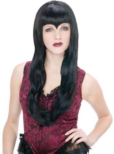 Black Temptress Costumes Wig (Vampiress Black Wig for Adult Halloween Costume)