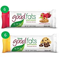 Love Good Fats Plant Based Variety Pack of 12 x 39g Bars