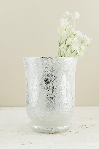 Essential Vases Glass Frosted (Frosted Mercury Glass Hurricane Vase& Candleholder 6
