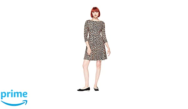 9bbb4c681af4 Amazon.com: Kate Spade Leopard Print Ponte Dress: Clothing