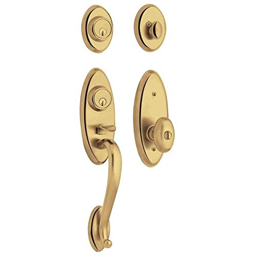 Baldwin 85345.2ENT Landon Style Single Cylinder Two Point Handleset with Egg Int, Non-Lacquered Brass - Landon Single