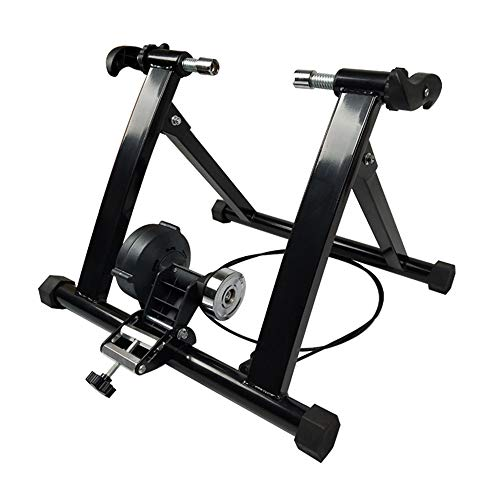 NOBLJX Bicycle Turbo Trainer, Folding Indoor Bike Magnetic Trainers, Linear Control Variable Resistance, Stationary Exercise Stand Steel Frame for Mountain Bicycles