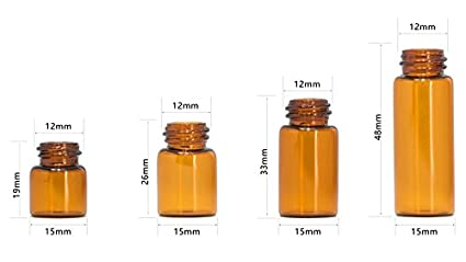 Botellas de vidrio para aceites esenciales, tapa de sellado de 5 ml, botella dispensadora