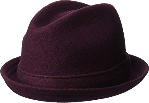 Kangol Wool Player - Kangol Men's Wool Player Fedora Trilby HAT, vino, S