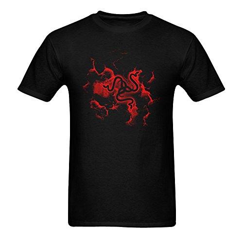 Price comparison product image ZIFENG Men's Razer Gaming T Shirts Black L
