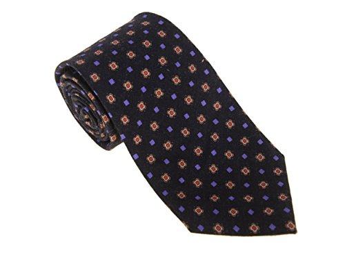 cesare-attolini-napoli-black-with-purple-red-motif-handmade-wool-necktie