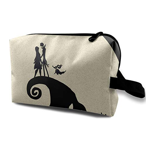 - CNJELLAW Christmas Night-mare Boo-gie Portable Cosmetic Bag Print Makeup Tote Bag\r\nStorage Pouch for Home & Travel Toiletry Case