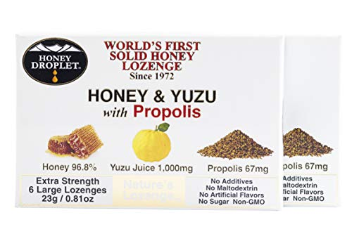 Twin Pack Honey in a solid form combined with functional ingredient propolis and unique yuzu juice no added sugar no maltodextrin in a natural super-food antioxidant