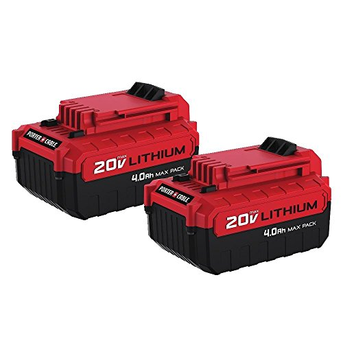 PORTER-CABLE Porter Cable PCC685LP 20V Max 4.0 Amp Hours Lithium Power Tool Battery, 2PK