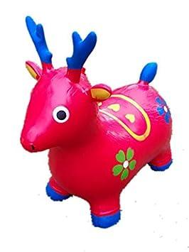 Rojo Hinchable para niños, diseño de Ciervo, L & H de muñeca ...