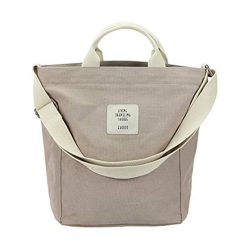 Women's Hobo Bag Canvas Shoulder Bag Casual Crossbody Messenger Large Capacity Handbag Tote Travel Bag lightweight Purse ()