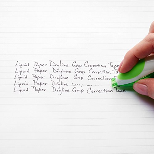 Paper Mate Liquid Paper DryLine Grip Correction Tape, Green , 2 Count by Liquid Paper (Image #2)