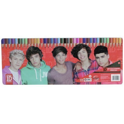 ONE DIRECTION 1D 50 COLOURING PENCIL SET STATIONERY TIN CASE BOX OFFICIAL - NEW by Sambro B00Y3PIEBK | New Product 2019