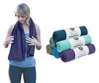 Microfiber Travel & Sports Towel. Absorbent, Fast Drying & Compact. Great for Yoga, Gym, Camping, Kitchen, Golf, Beach, Fitness, Pool, Workout, Spo
