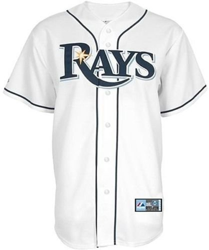 Tampa Bay Rays Majestic Home White Replica Baseball Jersey Big Sizes – DiZiSports Store