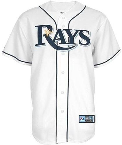 Tampa Bay Rays Majestic Home White Replica Baseball Jersey Big Sizes – Sports Center Store