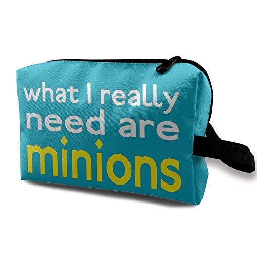 I Need Minions Makeup Bag Travel Multifunction Clutch Pouch Bags Great Holder For Girls -