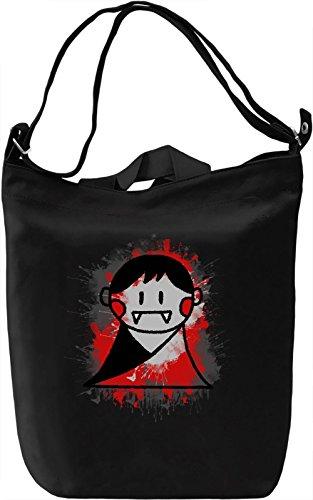 Cute Vampire Borsa Giornaliera Canvas Canvas Day Bag| 100% Premium Cotton Canvas| DTG Printing|