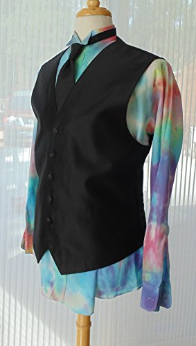 Men's L Hand Tie-dye Tuxedo Shirt by Fru Fru and Feathers Costumes & Gifts