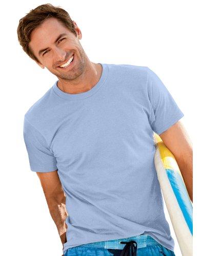Hanes Mens ComfortBlend EcoSmart Crewneck T-Shirt, Light Blue