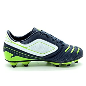 DREAM PAIRS 151028 Boy's Athletic Light Weight Lace Up Outdoor Fashion Sport Cleats Soccer Shoes (Toddler/Little Kid/Big Kid) Navy-Wht-N.Green Size 10