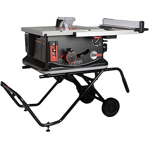 Contractors Table Saws - SawStop JSS-MCA Jobsite Saw with Mobile Cart, NULL