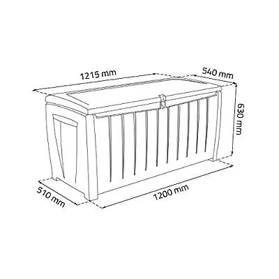 Coffre de rangement 340 L avec siege Keter boite a rangement en plastique