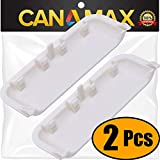 UNBREAKABLE W10861225 Dryer Door Handle Premium Replacement Part by Canamax - Compatible with Whirlpool Dryers - Replaces AP5999398 PS11731583 W10714516 W10861225VP - PACK OF 2
