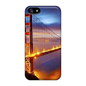 Special Design Back Golden Bridge Phone Case Cover For Iphone 5/5s