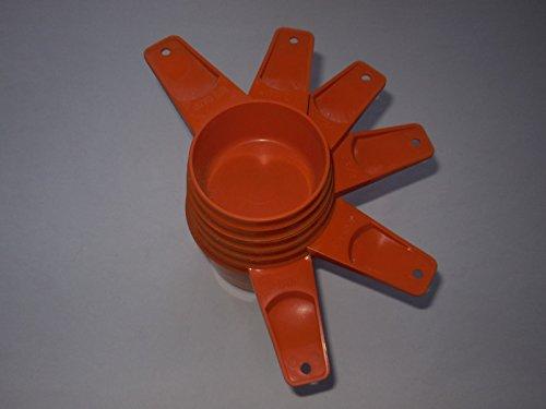Vintage Tupperware Harvest Orange Measuring product image