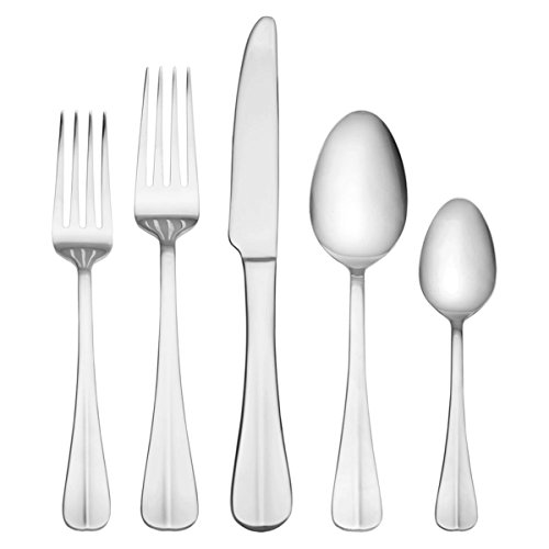 International Silver 5027191 Simplicity 53-Piece Stainless Steel Flatware Set with Serving Utensil Set, Service for 8 by International Silver