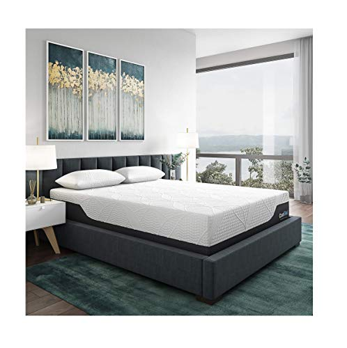 Classic Brands Cool Gel 2.0 Ultimate Gel Memory Foam 14-Inch Mattress with BONUS Pillow, Twin XL (Adjustable Bed Frame For Memory Foam Mattress)