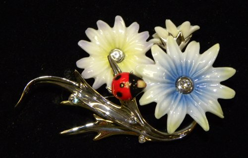 Enchanting Ladybug Pin by Franz Collection
