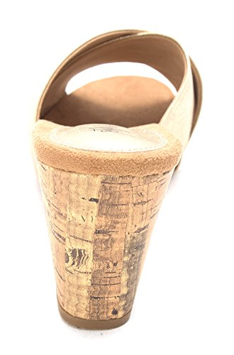 Style & Co Jillee Kunstleder Keilabsätze Sandale Light Gold