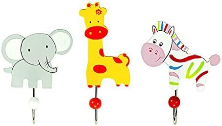 Safari Wooden Toddler Coat Hooks