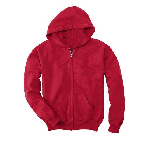 - Hanes Comfortblend EcoSmart Full-Zip Kids' Hoodie Sweatshirt,Deep Red,Small