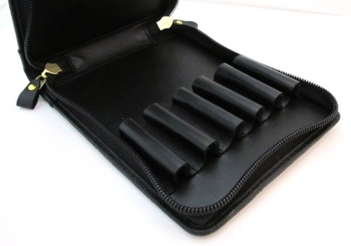 Pelican pen case leather black for six TGX-6 (japan import) by