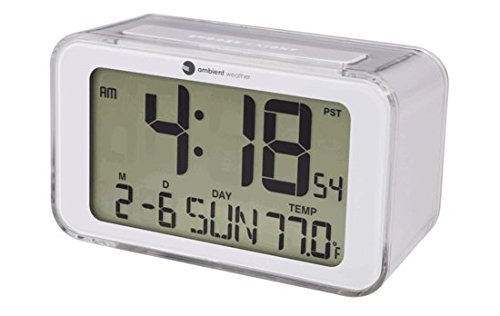 Ambient Weather RC-8320 Digital Alarm Clock with Radio Controlled Time