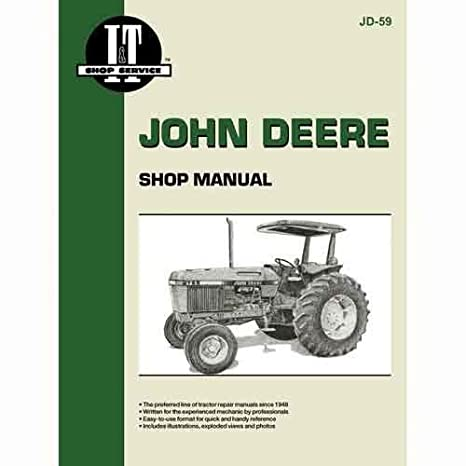 amazon com i t shop manual jd 59 john deere 2955 2955 2855 2855 rh amazon com John Deere 317 Parts Diagram John Deere 4510 Parts
