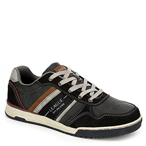 Memphis One Mens Casual Lace Up Sneaker Shoes, Brown/Dark Grey, US 10