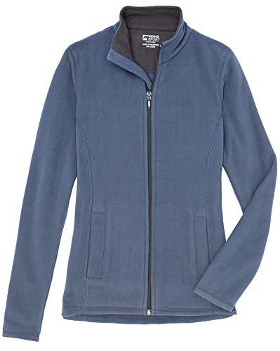 Dover Saddlery Riding Sport Girls Essential Fleece Jacket, Size L (12), Vintage Indigo