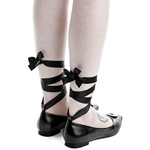 Killstar Ballerinas - Starlight Flats Schwarz