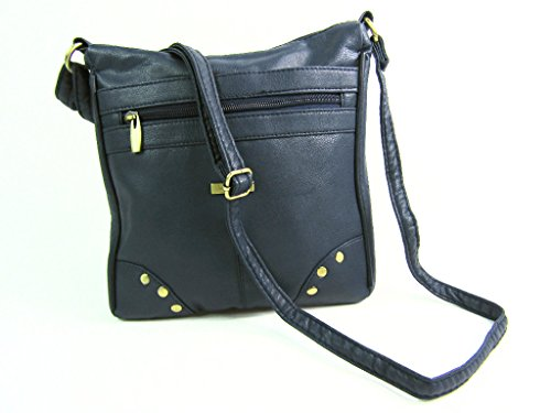 Marino Mujer Bolsos The Azul Emporium Leather TqHHnUW6tx