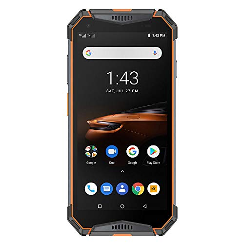 "Ulefone Armor 3W Rugged Smartphone Unlocked, IP68 Waterproof Cell Phone, Android 9.0 10300mAh Big Battery 6GB + 64GB, Dual 4G Global Bands 5.7"" FHD+, Compass, GPS+Glonass, NFC, Shockproof (Orange)"