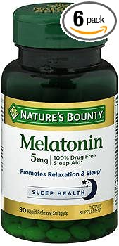 Image Unavailable. Image not available for. Color: Natures Bounty Melatonin 5 mg ...